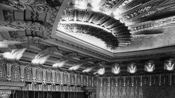 Art Deco Interior of the Wiltern Theatre